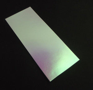 "FULL SHEET DICRO SLIDE Dichroic Coated Paper MAGENTA GREEN 3.2 x 8"" any COE"
