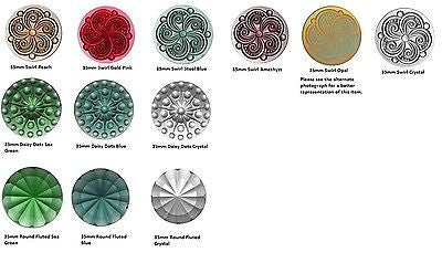 FANCY JEWEL 35mm for Stained Glass Choice of Color & Style QUALITY German Made