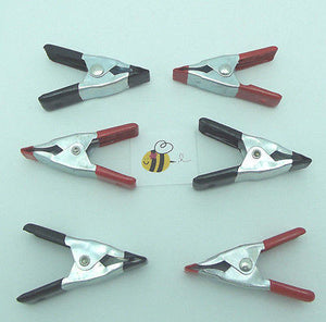 "2"" BONDING CLIPS Clamps Hold Projects for Gluing SET of Six Spring Loaded Tools"