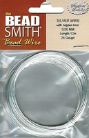 24 Gauge 12 meter BEADSMITH German Silver Wire With Copper Core Beading Wrapping
