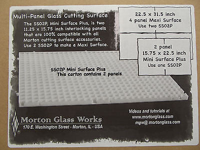 MORTON MINI SURFACE PLUS SS02P Two Panels 15.75 x 22.5 Inches Each Glass Shop