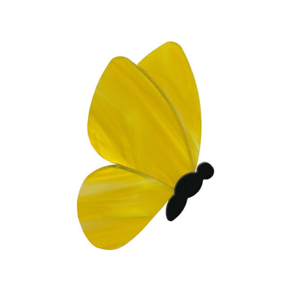 96 COE Fusible Precut Glass Multi-piece Butterfly - Wispy Yellow Glass Fusing Supplies