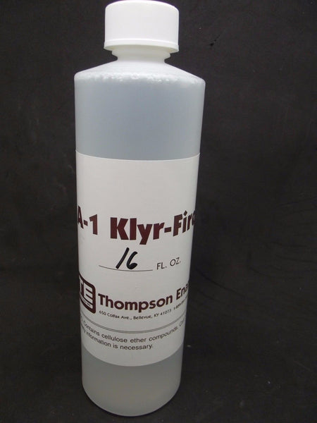 KLYR FIRE Clear 16 oz Thompson Enamels Water Based Holding Agent for Enameling