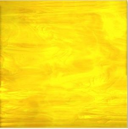 Yellow Transparent/White 6 x 6 inch 96 COE Fuser's Reserve