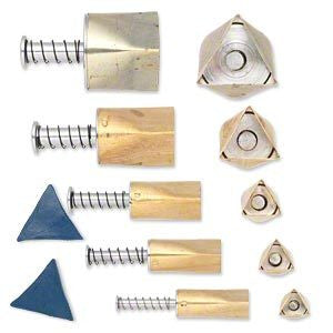 KLAY KUTTERS Cutters TRIANGLES Pack Art Clay Silver Gold PMC Tools Supplies