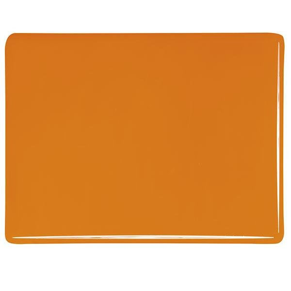 "0025 Tangerine Striker Opalescent Bullseye 90 COE Glass Sheet 10x10"" 90COE Fusible"