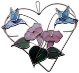KIT HUMMINGBIRD HEART Studio One Precut Glass 9010