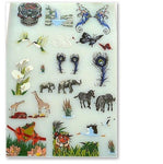 "Amazing! MYSTICAL WILDLIFE Full Color Screen-printed Decals Fusing 6x9"" Sheet"