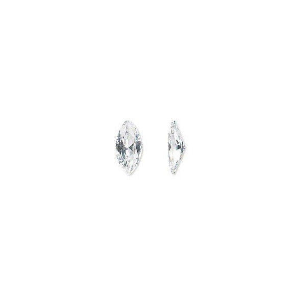 1 14x7mm MARQUISE WHITE CZ for PMC Art Clay Silver Gold Projects CUBIC ZIRCONIA