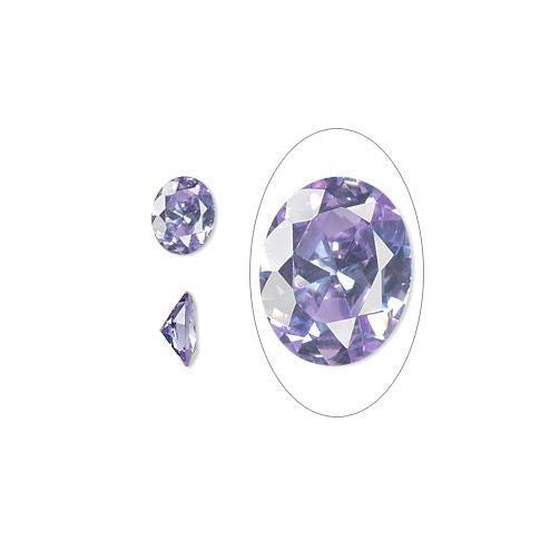 LAVENDER OVAL 10x8mm CZ Fire inPMC Art Clay Silver Gold or Set In Jewelry LOOSE