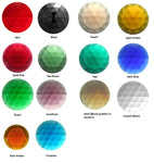 "Beautiful German-Made FACETED JEWELS 25mm 1"" Stained Glass Color Choice"
