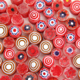 Moretti Effetre Millefiori PATTERNED GLASS SLICES One Ounce Mini Choice of Color