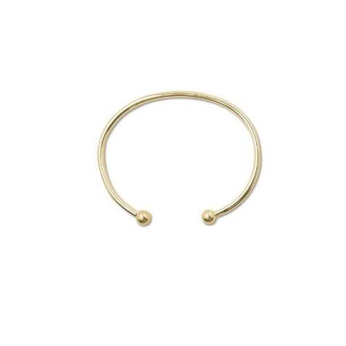 Quality Beadsmith Add A Bead BANGLE BRACELET Choice of Gold or Silver Plate