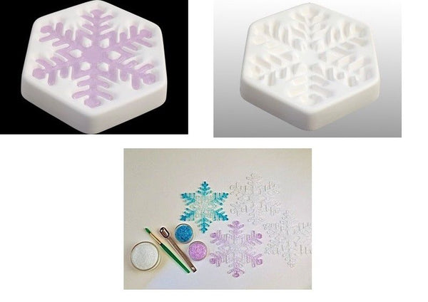 """January 2017"" Colour de Verre SNOWFLAKE Ceramic Reusuable Fusing Mold Casting"