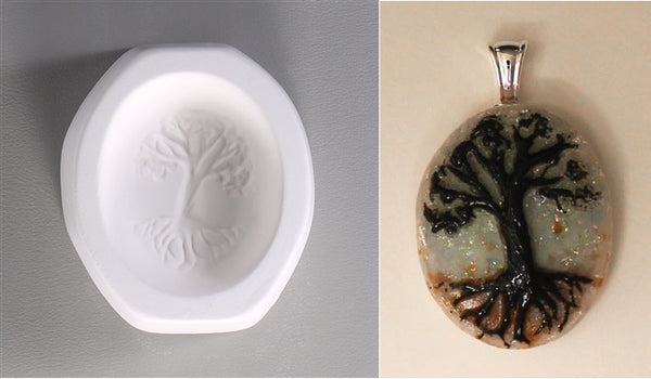 Tree of Life Cabochon Mold Pendant Casting Little Fritters 94