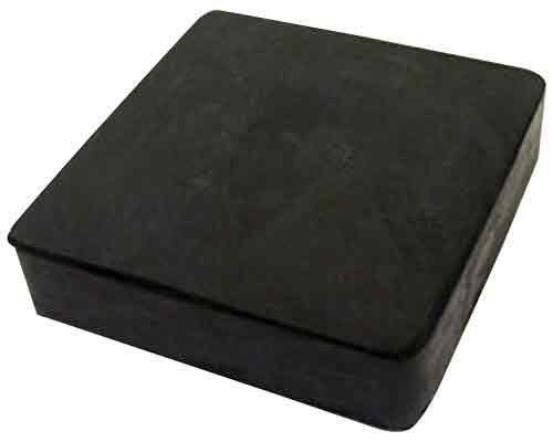 Jewelry Polishing RUBBER BLOCK Dampening High Density Will Not Mar Stamp 4x4x.75