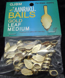 Aanraku GOLD plated Jewelry Bails MEDIUM Fused Glass Pendants 25 Glue-On Leaf