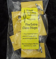 5 Extra Glass Stops PG06B MORTON PORTABLE GLASS SHOP fits PG01B Cutting System