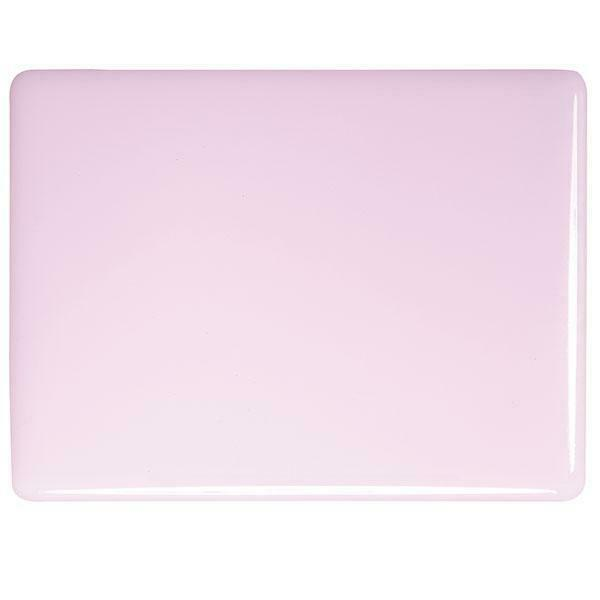 "0421 Petal Pink Opalescent Bullseye 90 COE Glass Sheet 10x10"" 90COE Fusible"