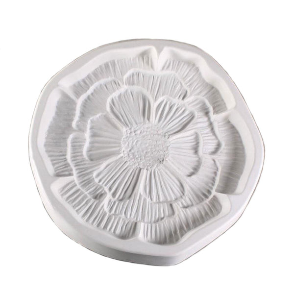 "Patty Gray Flower Poppy Mold Glass Casting Fusing Supplies LF141 Large 9.5"" Diam"
