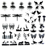 "Earring Sets Low Fire Fusing Decal Sheet 4x4"" Black or White Enamel Small Pendants"
