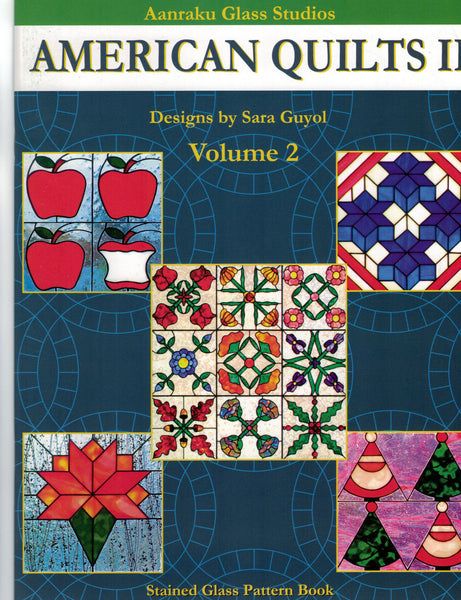 Stained Glass Pattern Book American Quilts II Aanraku Great For Fusers!