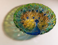 "Peacock Texture Round Glass Fusing Mold Creative Paradise 19 Plate 11"" Platter"