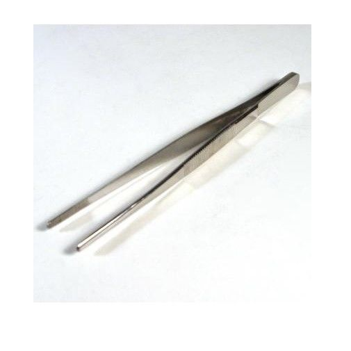 "6"" Blunt Serrated Tweezers Stainless Steel Lampworking Hot Glass Supplies Tools"