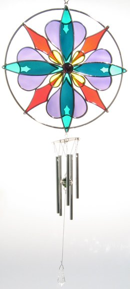 KALEIDOSCOPE Wind Chime Kit Studio One Precut Glass Please Read the Description
