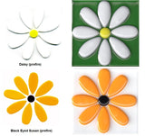 "96 COE GLASS FLOWERS Choice of Black Eyed Susan or Daisy Fusing 2 3/4"" x 2 3/4"""