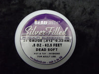 Beadsmith Pro Silver Bonded Filled Wire Half Hard Dead Soft 18 20 22 22 26 28 ga