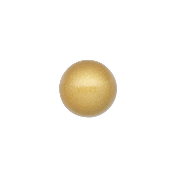14mm Undrilled Matte Steel & Enamel Chime Ball Beautiful Sound GOLD Tone