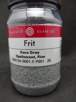 Deco Gray Opal Bullseye 90 COE GLASS FRIT FINE 16 oz One Pound