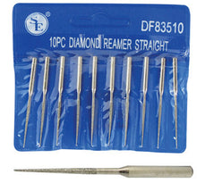 "10 Pieces Tapered Diamond Coated Bead Reamer for Rotary Tool 1/8"" Shank 2"" Tips"