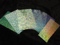 WISSMACH Jeweler's SCRAP DICHROIC GLASS 8oz  Mix Color Texture Clear 96