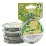 "100 feet Stainless Steel CLEAR .018"" 21 Strand BEADSMITH FLEX-RITE Bead FLEXRITE"