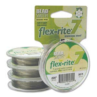 "Stainless Steel CLEAR .020"" 7 Strand 30' BEADSMITH FLEX-RITE Bead Wire FLEXRITE"
