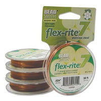 "COPPER COLOR .024"" 7 Strand 30 feet BEADSMITH FLEX-RITE Beading Wire FLEXRITE"