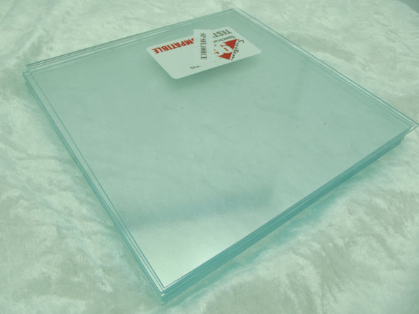 "8 Pieces 6x6"" Spectrum System 96 COE ICECLE CLEAR Thin 2mm Glass Sheets Pack Stock Up (See shipping special!)"