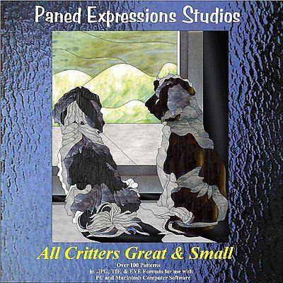 ALL CRITTERS GREAT & SMALL Paned Expressions Pattern Book On CD Animals BONUS