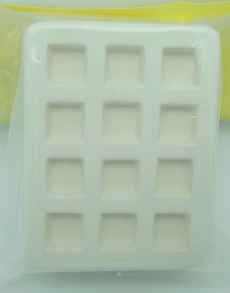 "Little Fritter Earthenware MOLD 12 1/2"" SQUARES Earrings Glass Kilns USA MADE 46"