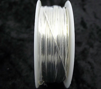 TINNED COPPER WIRE 4 oz Roll 20 AWG Silver Altered Art Soldered Pendant Crafting