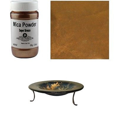 Mica Powder SUPER BRONZE Fusing Flameworking 100gr 3.5 oz Pixi Dust