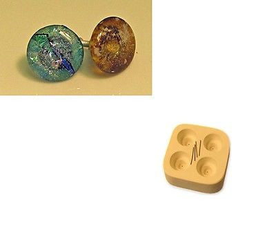 "Little Fritters 1.25"" ROUND KNOBS MOLD Great for Small Glass Kilns 5x5""  USA"