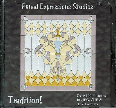 TRADITION! Paned Expressions 120 Pattern Book on CD Print at Home +BONUS