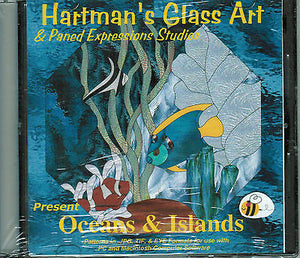 OCEANS & ISLANDS Fish Paned Expressions Book on CD 60+ Great Patterns + BONUS