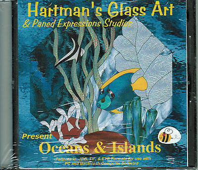 OCEANS & ISLANDS Fish Paned Expressions Book on CD 60+ Great Patterns