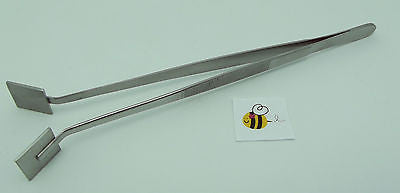 TWEEZER MASHER 8-inch ANGLED Lampworking Tools & Supplies Great Shaper Stainless
