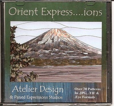 Japanese Asian ORIENT EXPRESSions Paned Expressions Pattern Book CD