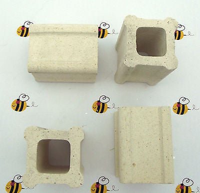 "Set of FOUR Kiln Posts 1-1/2"" SQ by 2"" Tall (4) Fusing Glass Furniture Slump"